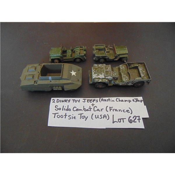 627 DINKY TOY AND OTHER MILITARY TOYS