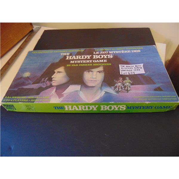 634 1978 HARDY BOYS MYSTERY GAME