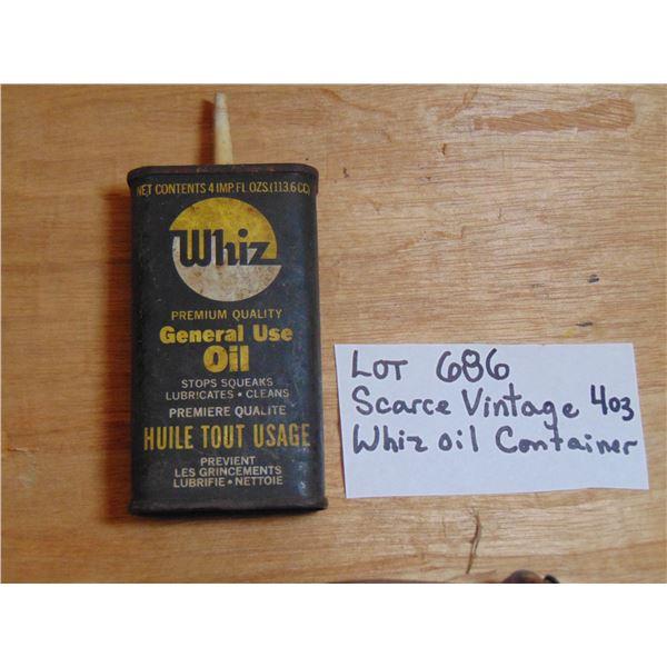 686 VERY SCARCE VINTAGE 4 OZ WHIZ GENERAL OIL TIN