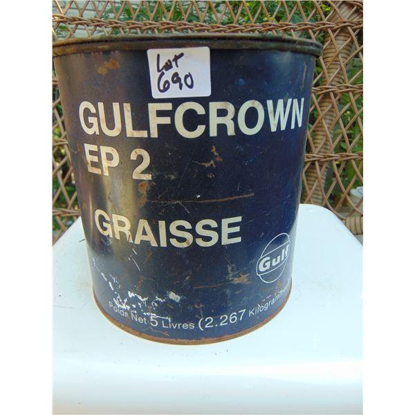690 GULF: GULF CROWN EP 2 5 LB GREASE TIN
