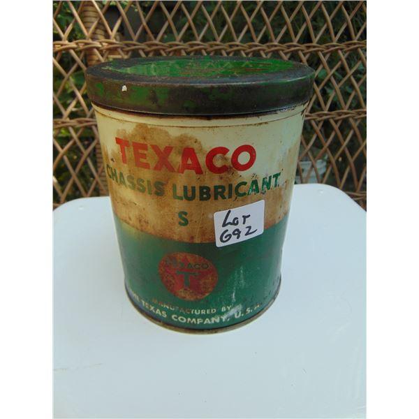 692 TEXACO CHASIS LUBRICANT S 2LB GREASE TIN