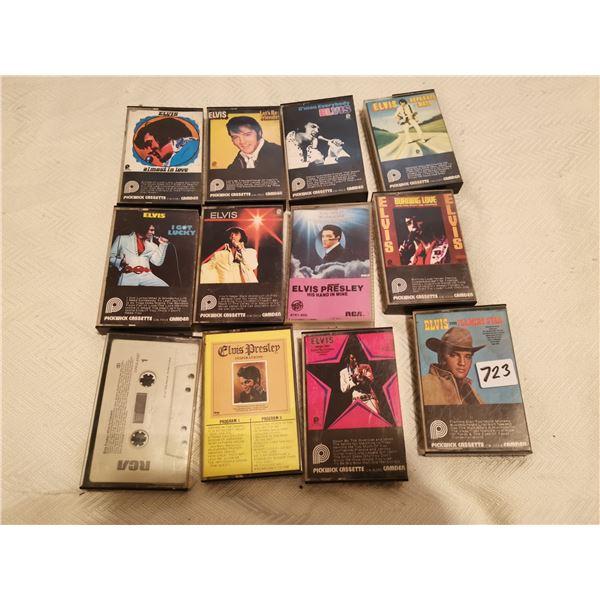 12 Elvis cassettes