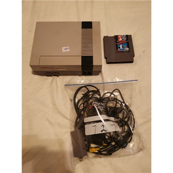 Nintendo Entertainment System and game - not tested