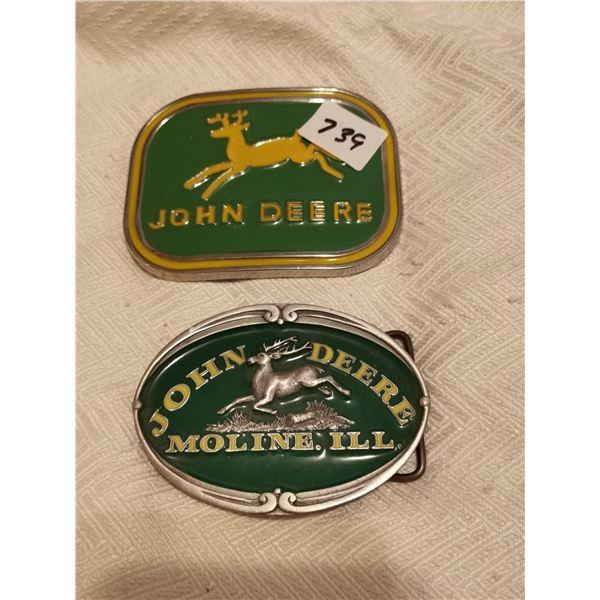 2 John Deere belt buckles