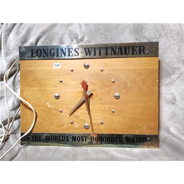 "Vintage longiness clock, 20"" X 15"""