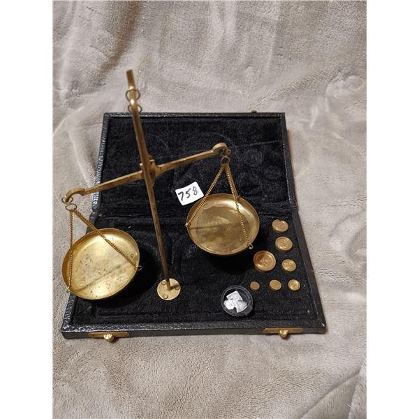 Antique British gold scale