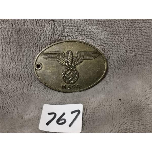 WWII German brass tag