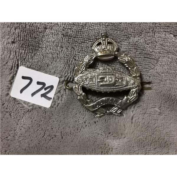 Canadian tank regiment kings crown badge