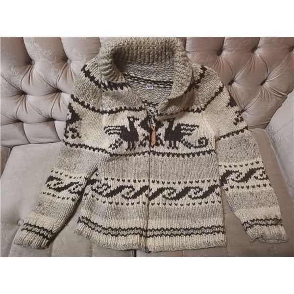 Older siwash wool sweater, size medium