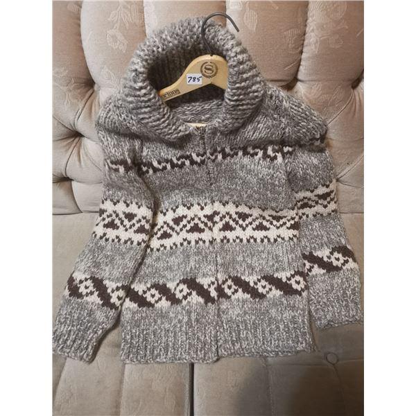 Older siwish wool sweater, size small