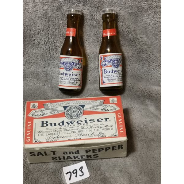 Vintage Budweiser salt & pepper shakers