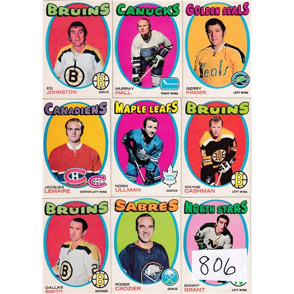 Lot of 15 1971-72 OPC Cards