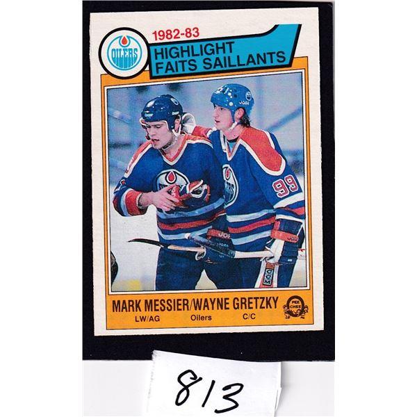 1983-84 OPC Wayne Gretzky / Mark Messier Card #23