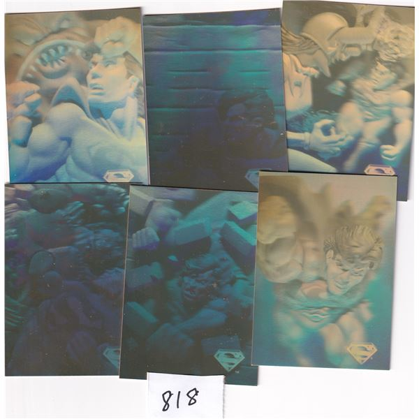 1996 Skybox Superman Holographic 54 card set