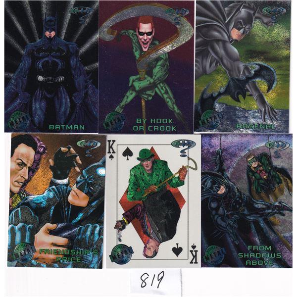 1995 Fleer Metal Forever Batman 100 card Set