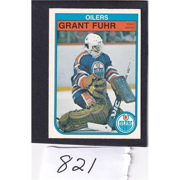 1982-83  Grant Fuhr Rookie Card Nice