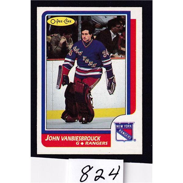 1986-87 OPC John Vanbiesbrouck Rookie Card