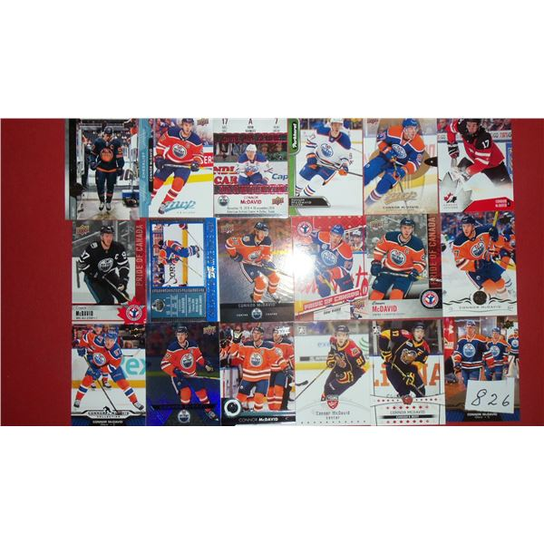 Lot of (18) Connor McDavid cards
