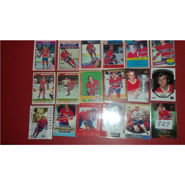 Lot of (18) Guy Lafleur cards