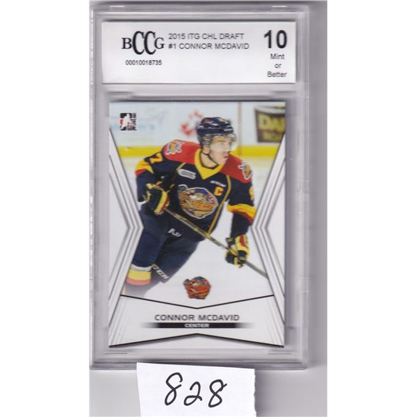 2015 In the Game Connor McDavid #1 Beckett Graded 10