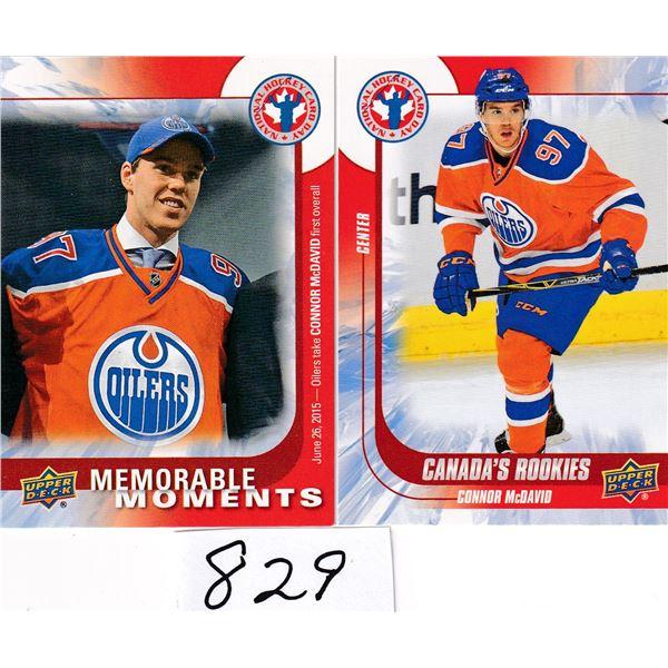 2015 lot Of (2) Upper Deck Connor McDavid cards