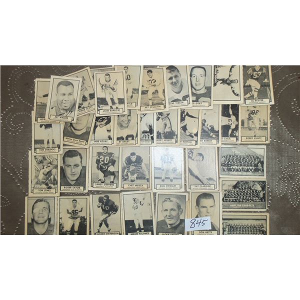 1962 Topps CFL Lot of 38 Cards