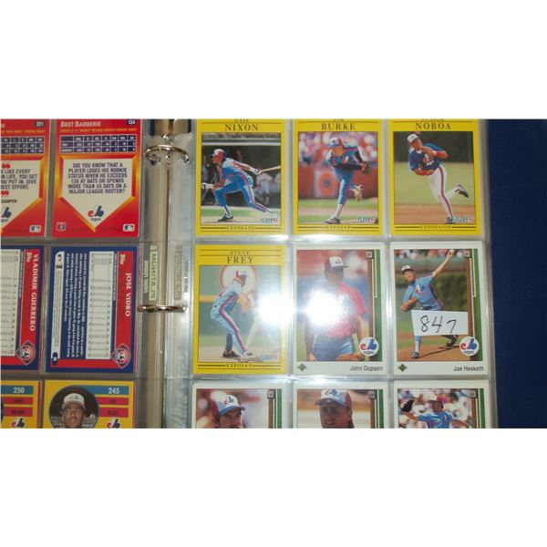 Lot of 100 Montreal Expos Cards