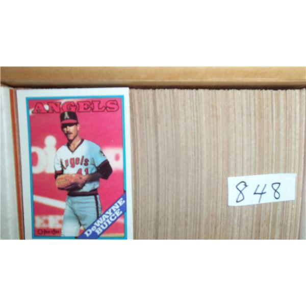 1988 OPC Baseball set of 396 cards