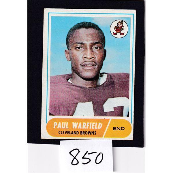 1968 Topps NFL Paul Warfield card