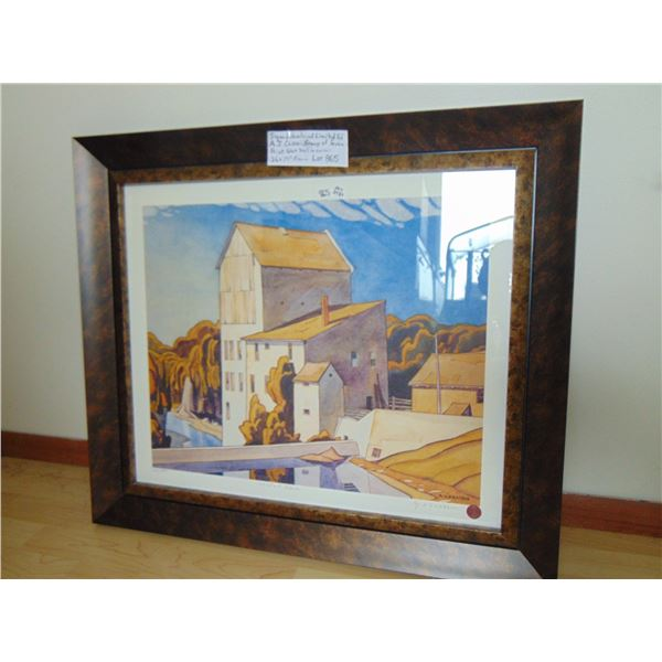 865 A.J. CASSON SIGNED #'D MILL AT LEORA FRAMED PRINT GROUP OF 7