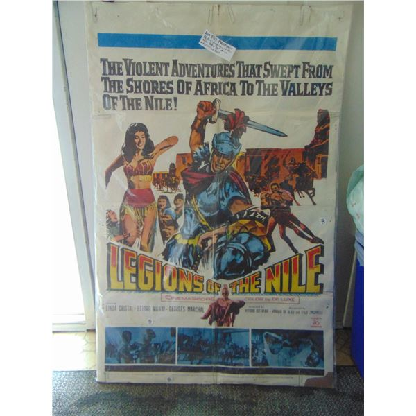 """870 1960 LEGIONS OF THE NILE MOVIE POSTER 27 BY 41"""""""