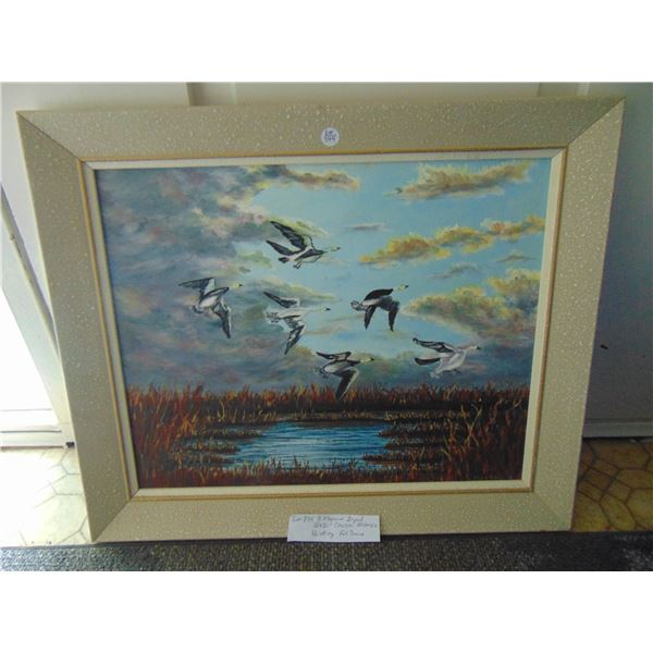 874 R MOGENSON OIL PAINTING 16 BY 20 CANVAS FRAMED