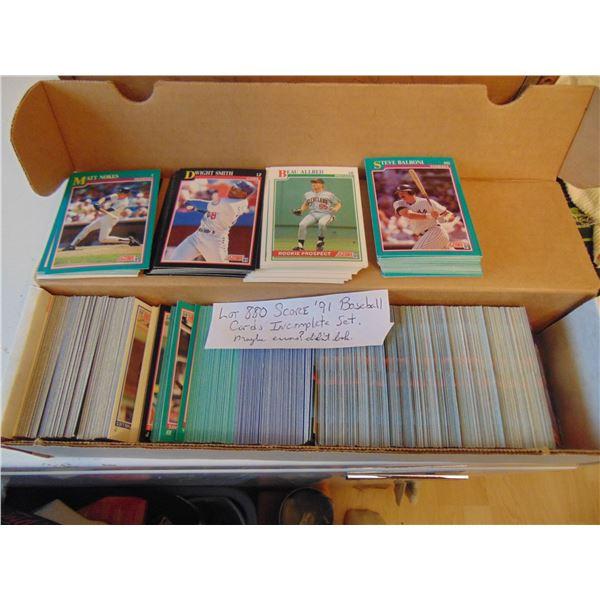 880 1991 SCORE BASEBALL CARDS
