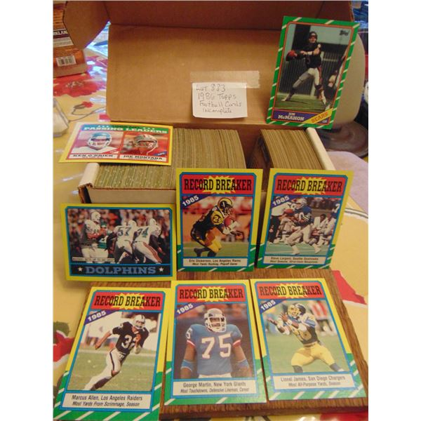 883 1986 TOPPS FOOTBALL CARDS
