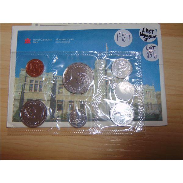 886 1987 PROOF LIKE COIN SET