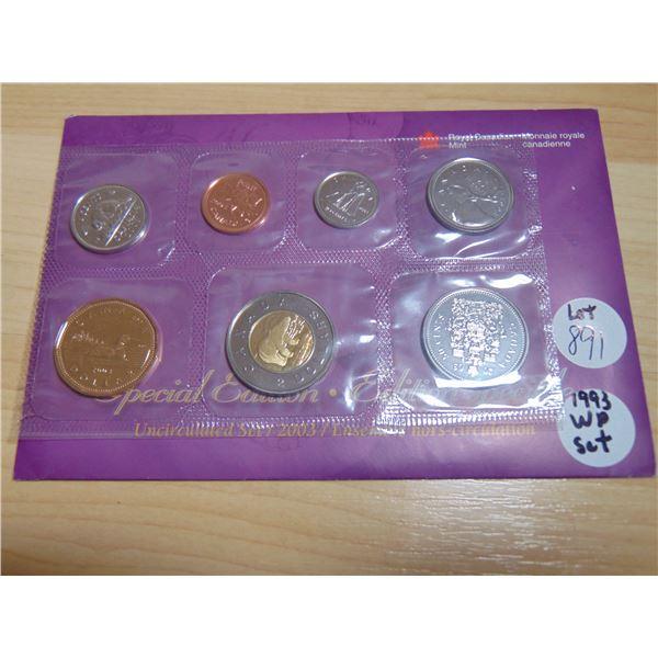 891 1993 WP PROOF LIKE COIN SET