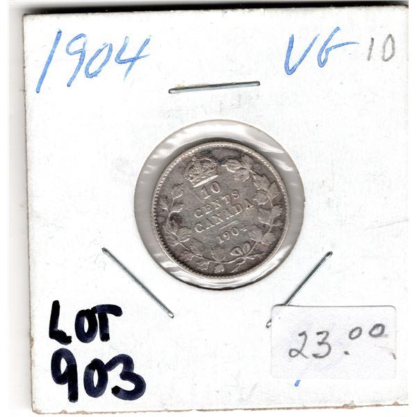 903 LOW MINTAGE 1904 10 CENT PIECE