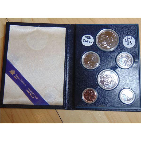 915 1981 SPECIMEN COIN SET