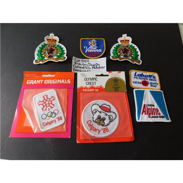 944 UNUSED IRON ON /SEW ON COLLECTIBLE PATCHES