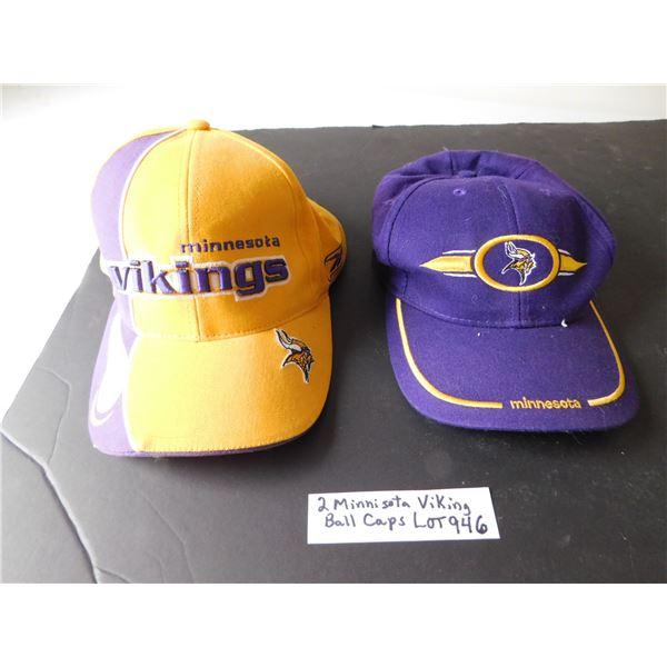 946 TWO MINNISOTA VIKINGS BALL CAPS