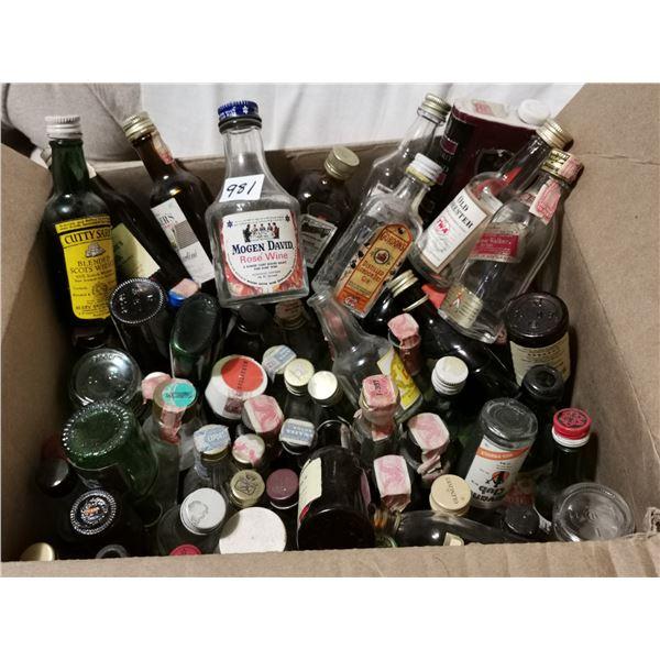 75 older miniature small bottles