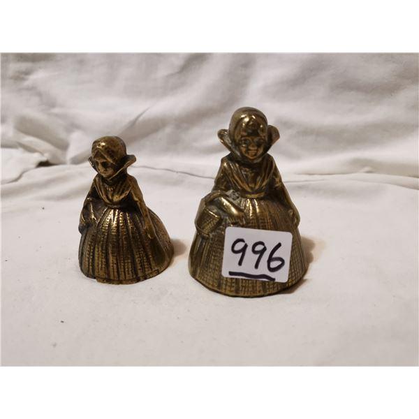 Two Dutch girl brass bells