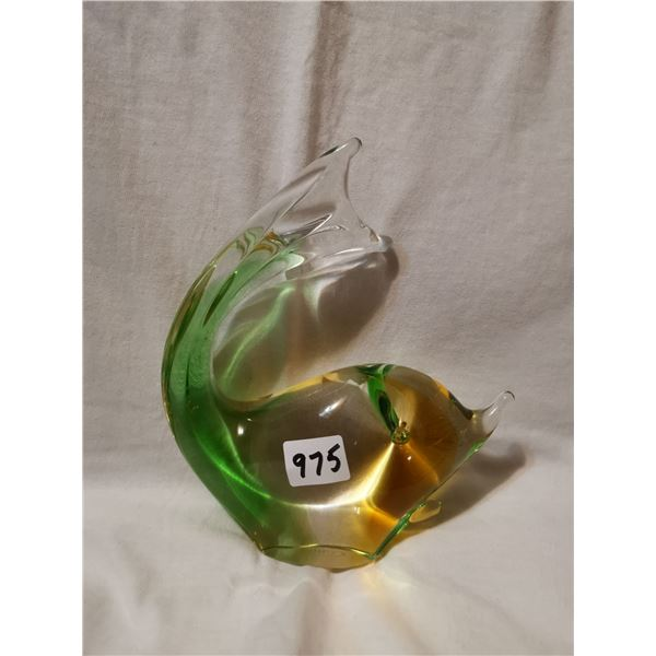 """Chalet art glass, 7"""" high"""