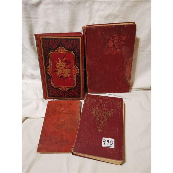 4 antique books