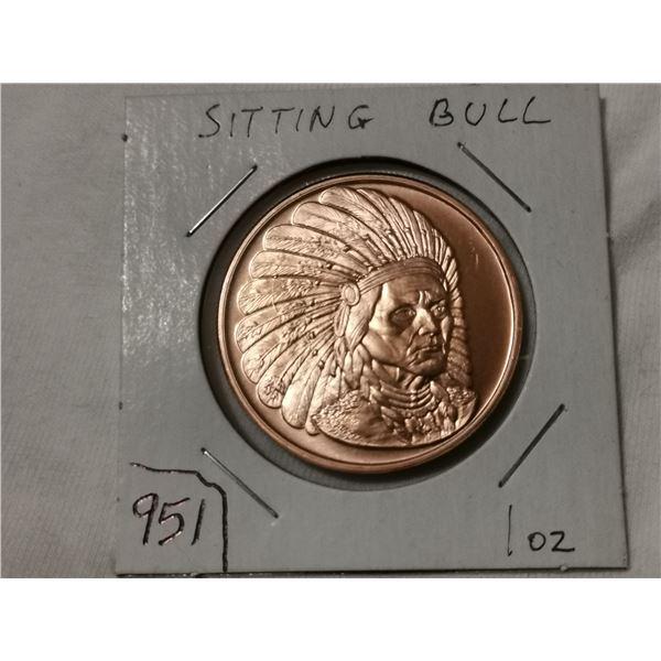 1 oz copper, Sitting Bull, American Indian series