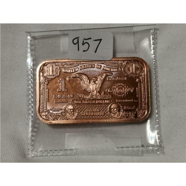 1 oz copper $1.00