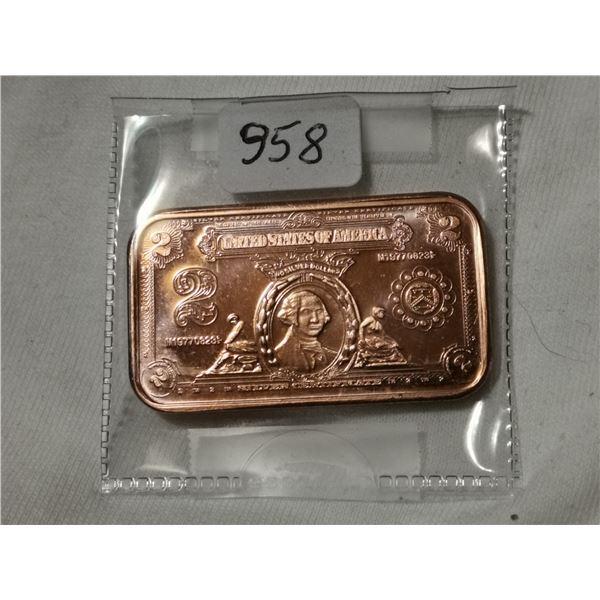 1 oz copper $2.00