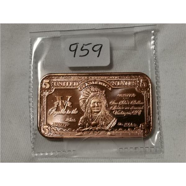 1 oz copper $5.00