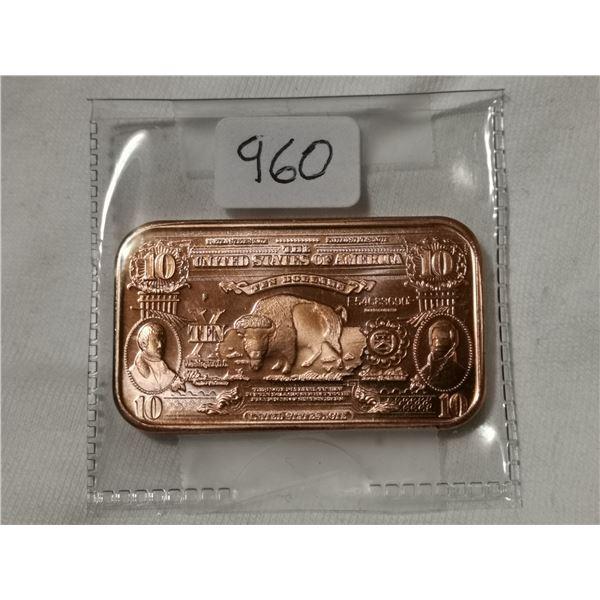 1 oz copper $10.00