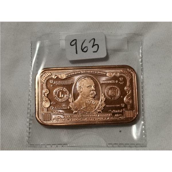 1 oz copper $1000.00